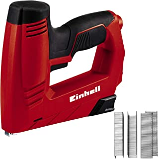 Einhell 4257890 TC-EN 20 E - Grapadora Electrica Potencia, 240 V, 20 disparos por minuto, longitud de grapa 6-14 mm, longitud de clavo 14 mm, incluidas 1000 grapas y 500 clavos