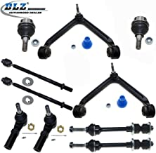 DLZ 10 Pcs Suspension Kit-2 Upper Control Arm Ball Joint Bushing Assembly 2 Lower Ball Joint 2 Outer 2 Inner Tie Rod End 2 Sway Bar Compatible with 2002-2005 Dodge Ram 1500 2WD RWD K7411 EV407 K7424
