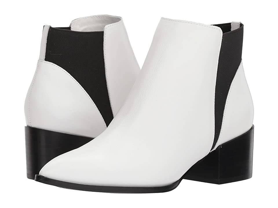Retro Boots, Granny Boots, 70s Boots Chinese Laundry Finn Bootie White Smooth Leather Womens Boots $99.95 AT vintagedancer.com