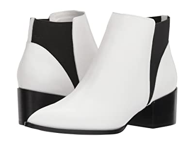 Chinese Laundry Finn Bootie (White Smooth Leather) Women