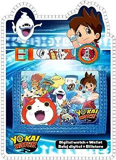 Yo-Kai Digital Watch&Wallet,Children Watch,Kids Watch,Official Licensed,Gift Set
