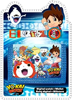 Yo-Kai Digital Watch&Wallet,Children Watch,Kids Watch,Official Licensed,Gift Set