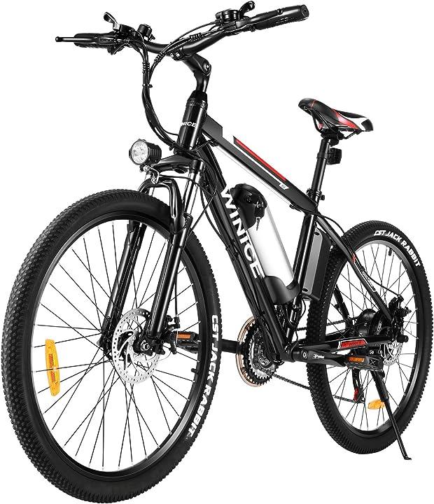 Bicicletta elettrica mountain bike per adulti,26 pollici  250w ebike  21 velocità batteria 8h ioni litio B08P1KLL4X