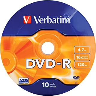 Verbatim DVD-R 4,7GB 16x 10Pack Spindle Wrap Silver 43729