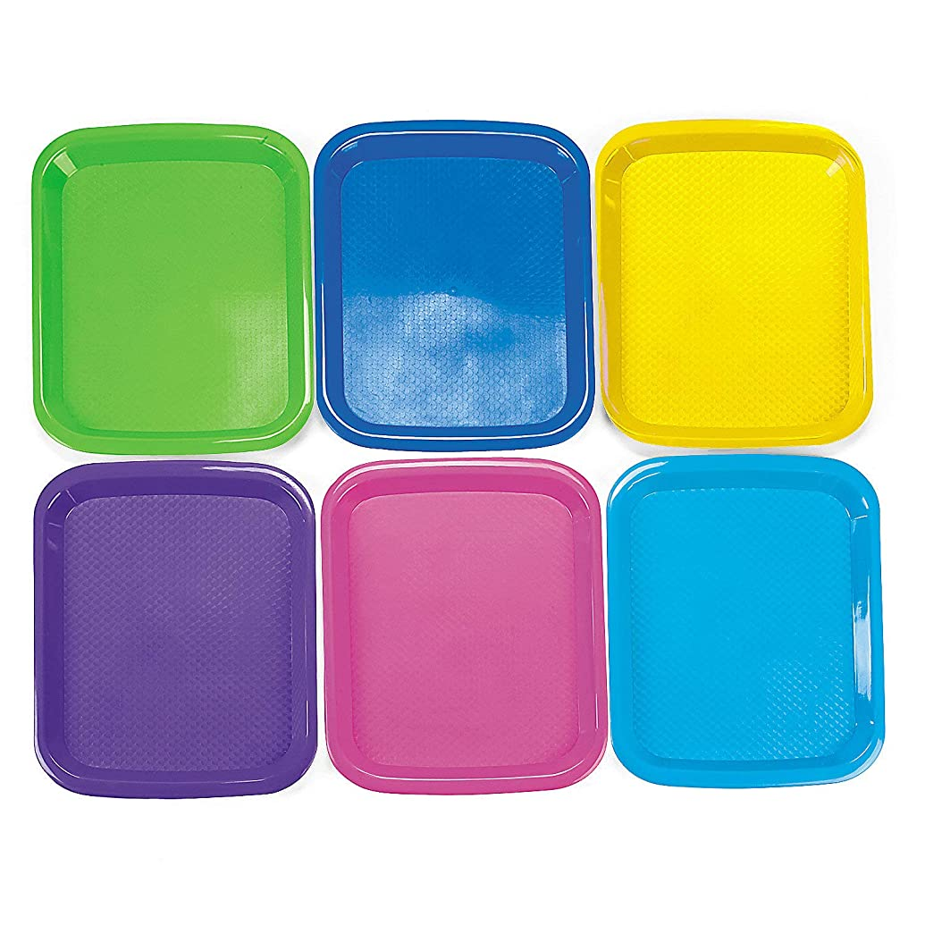 Fun Express - Cool Craft Trays - Craft Supplies - Kids Beading - Beading Supplies - 6 Pieces