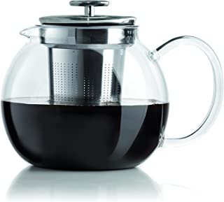 Bialetti 1-Liter Tea Pot, Glass, Silver