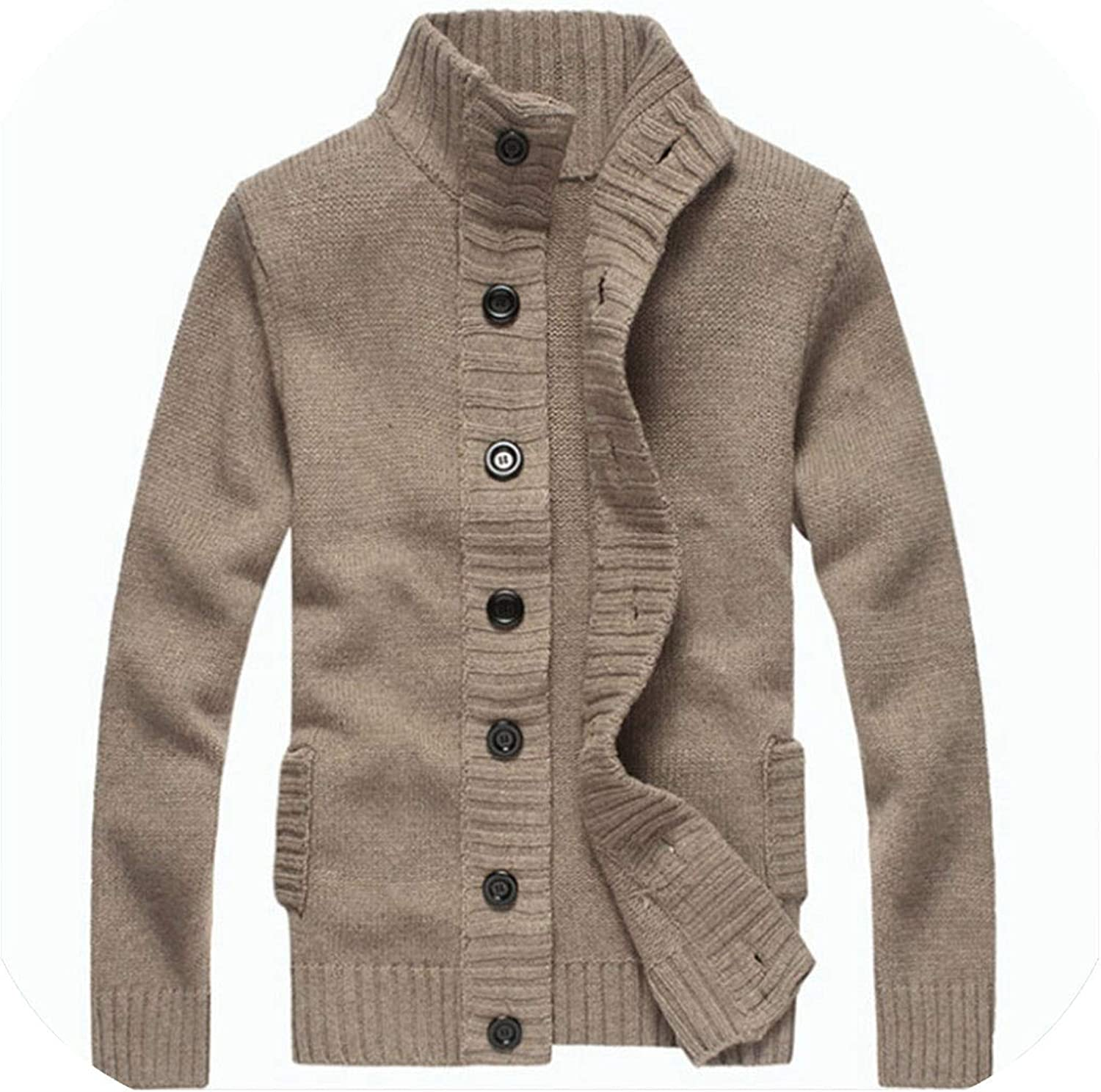 Thick New for Mens Cardigan Slim Fit Jumpers Knitwear Warm Clothing Men