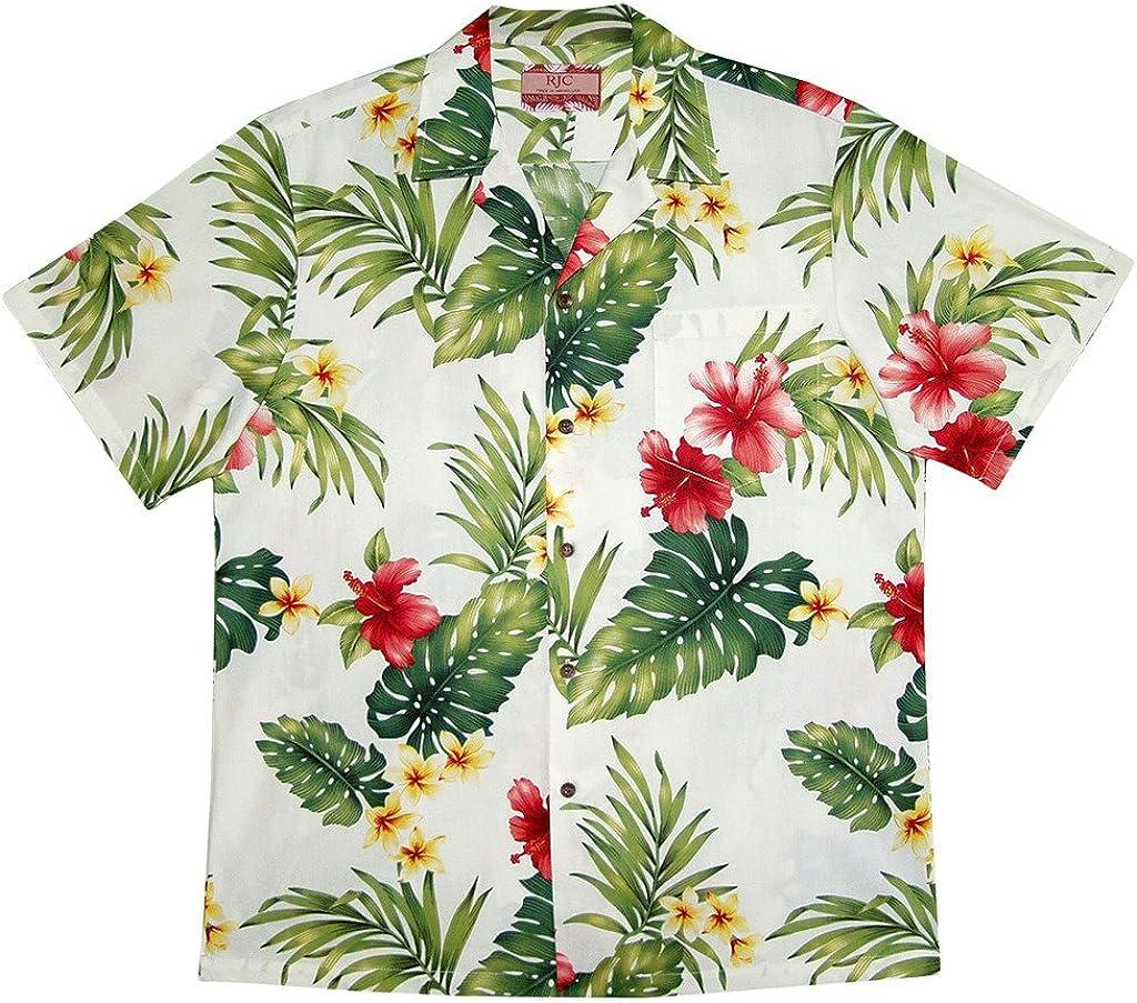 RJC Men's Hibiscus Tropics Hawaiian Shirt