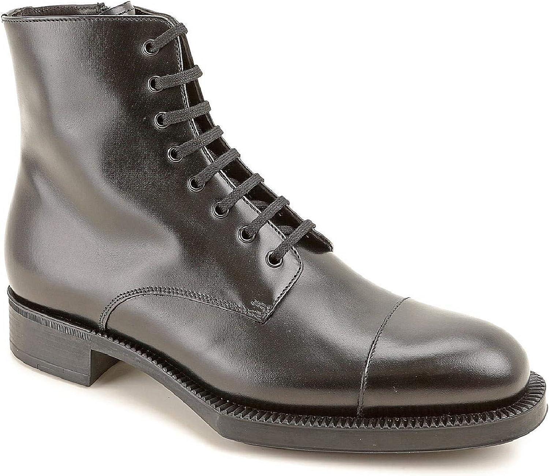 Prada Woherrar Calf läder läder läder Ankle stövlar.  försäljning online