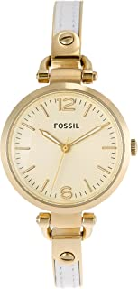 Es3260 Georgia Gold-Tone Stainless Steel Watch with Leather Strap