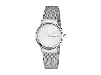 Skagen Freja Two-Hand Stainless Steel Mesh Watch (SKW2715 Silver Stainless Steel Mesh) Watches