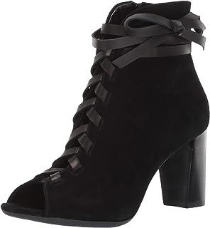 حذاء برقبة للنساء من أيروسولس - جزمة جلدية متوسطة الكاحل مع وسادة قدم من الإسفنج الذي يتشكل حسب الجسم الملامس