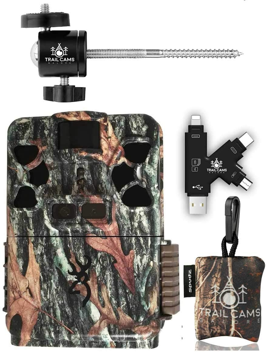 Browning Patriot Camera with Card Reader, Tree Mount, and Spudz Microfiber Cloth Screen Cleaner