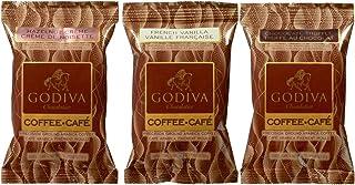 【 ゴディバ フレーバーコーヒー(豆) お試しセット】ヘーゼルナッツクリーム 57g×1袋 フレンチバニラ 57g×1袋 チョコレートトリュフ 57g×1袋(ギフトカード&ショッピング袋付き)