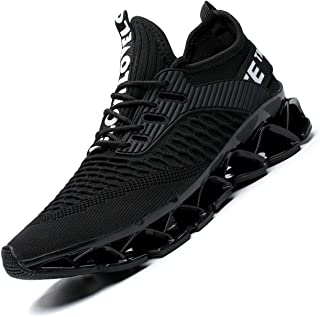 Men's Running Shoes Blade Non Slip Fashion Sneakers Breathable Mesh Soft Sole Casual Athletic Lightweight Walking Shoes