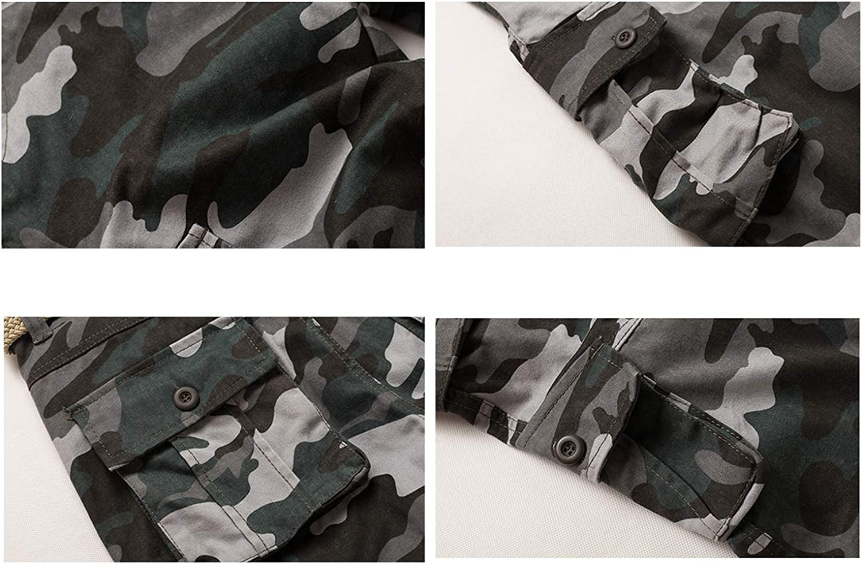 THWJSH Pantalon de travail camouflage pour homme, léger et chaud pour l'hiver avec pantalon cargo renforcé 4