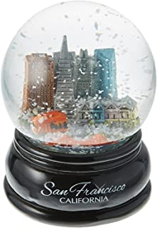 City-Souvenirs San Francisco Snow Globe Skyline, Trolley and Golden Gate Bridge, 3.5 Inches Tall