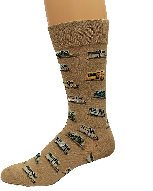 HotSox Mens Campers Socks, 1 Pair, Mens Shoe 6-12.5