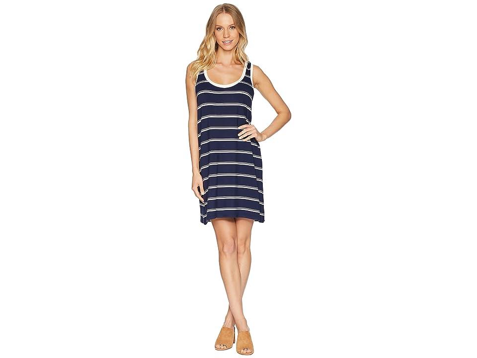 BB Dakota Vivanna Striped Knit Tank Dress (Navy) Women