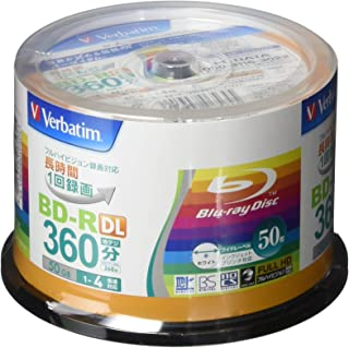 Verbatim Blu-ray Disc 50 pcs Spindle – 50GB 4X BD-R DL – Inkjet Printable
