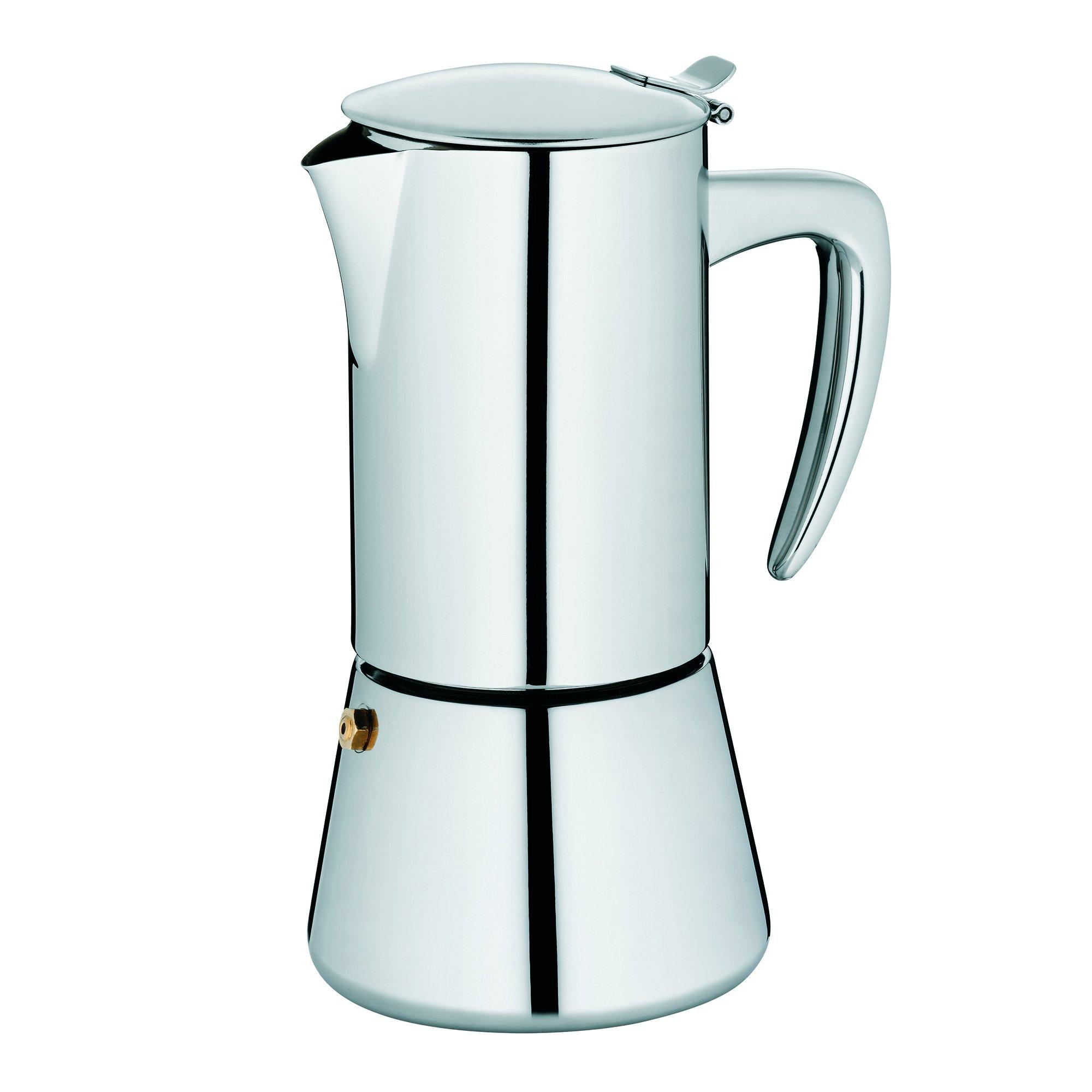 Cafetera acero inoxidable, para inducci/ón, 200 ml, 4 tazas Kela 10835 Latina