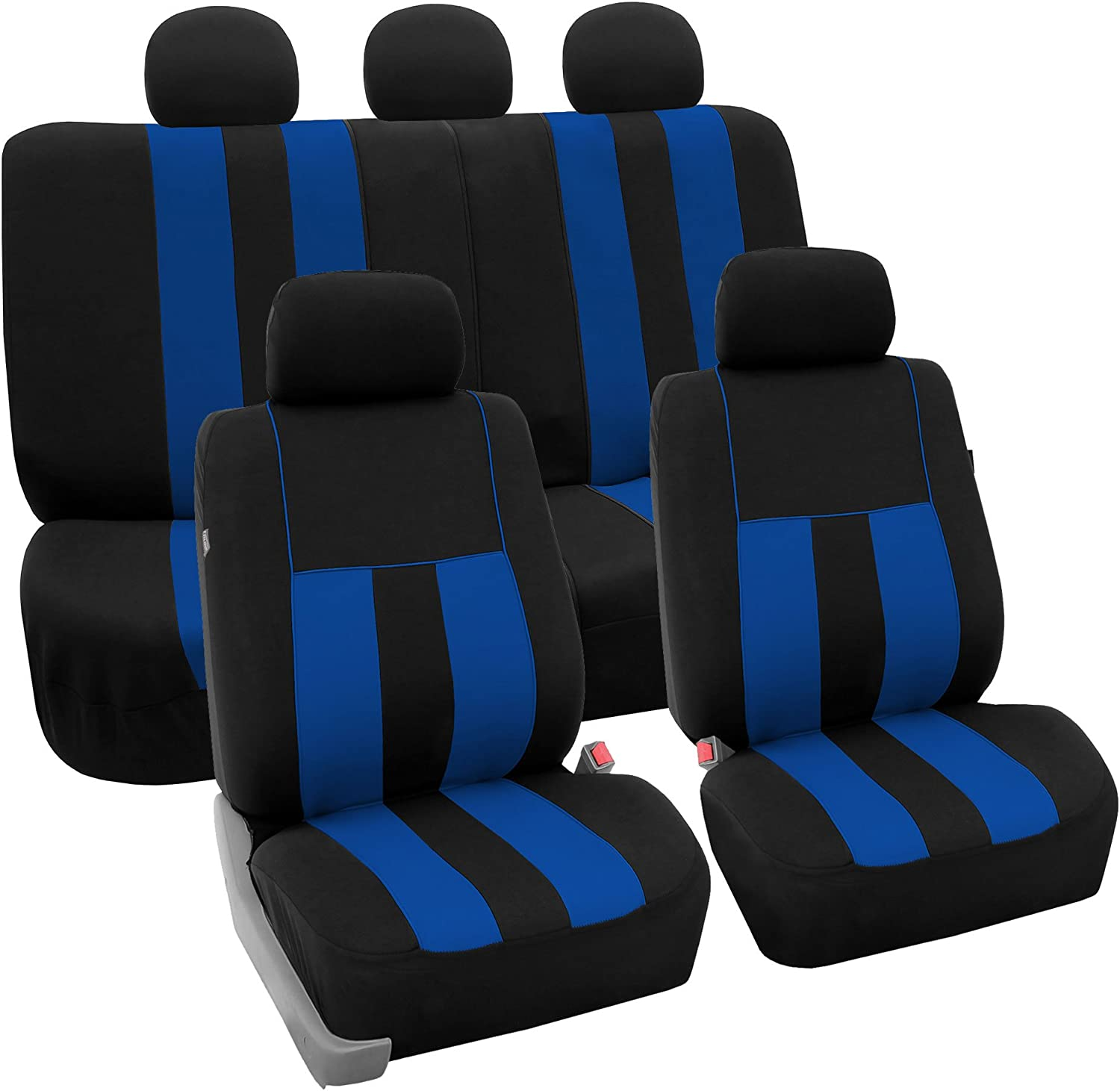 FH Group FB036BLUE115 Seat Cover Airbag Compatible and Split Bench Blue