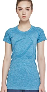 CRZ YOGA Women's Active Sports Tee Seamless Short Sleeve Performance T-shirt