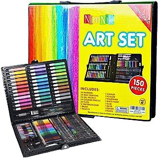 Kit de Manualidades para Niños - Caja Colores | Conjunto Pinturas Set Dibujo 150 Piezas Actividad Creativa Ceras Colores Lapiceros Acuarelas Rotuladores | Kit Artistico Ideal Regalar