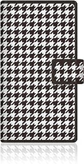 CaseMarket Amazon.co.jp 【手帳式】 CaseMarket AQUOS ZETA (SH-01G) スリム ケース [ ブラック チドリ グラフィカル 千鳥柄 ]  SH-01G-VCM2D2126