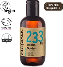 Naissance Cold Pressed Golden Jojoba Oil (no. 233) 100ml - Pure & Natural, Unrefined, Vegan, Hexane Free, No GMO - Ideal for Aromatherapy and as a Massage Base Oil