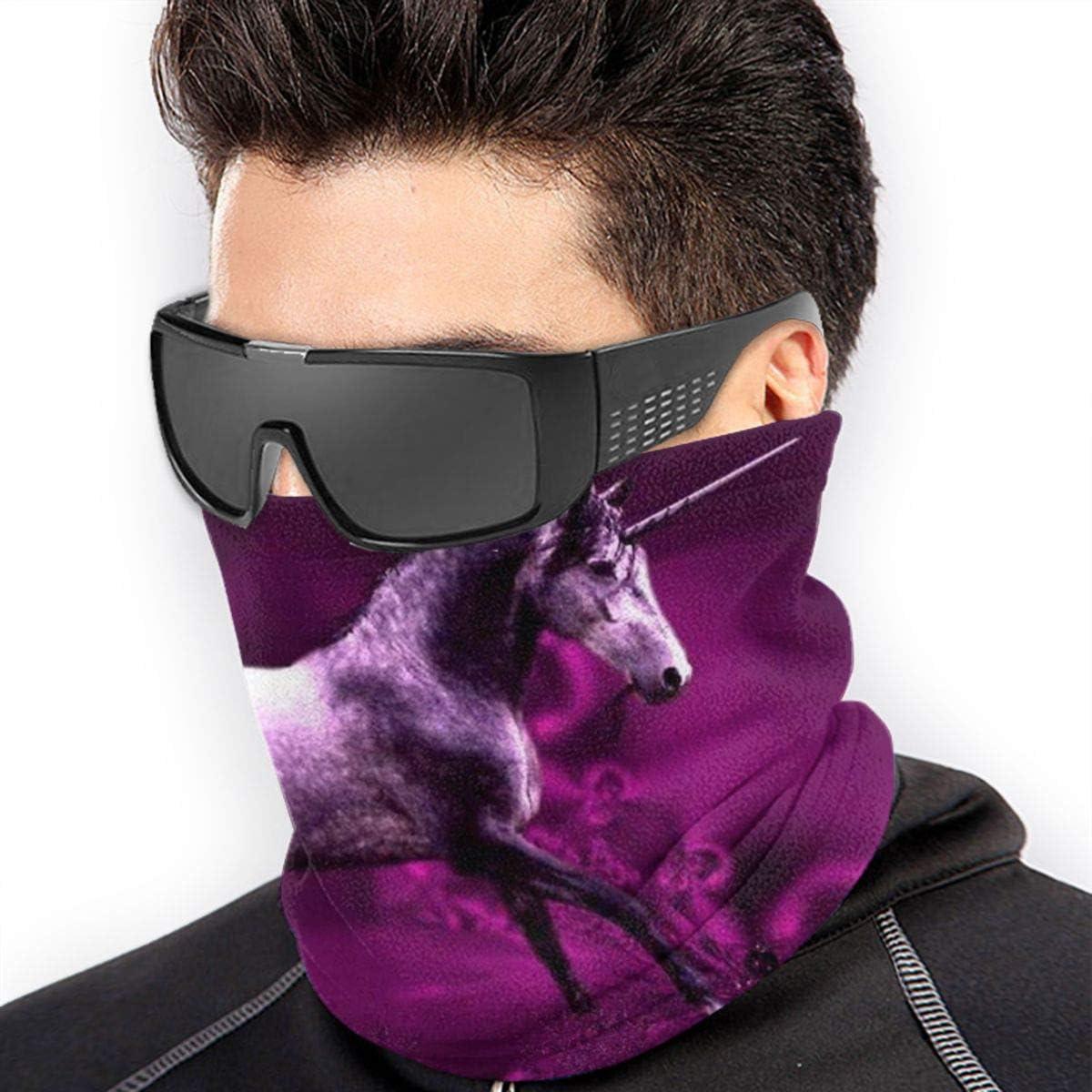 Beautiful Purple Unicorn Neck Gaiter Headwear Headband Head Wrap Scarf Mask Neck/Ear Warmers Headbands Perfect For Winter Fishing, Hiking, Running, Motorcycle Etc& Daily Wear For Men And Women