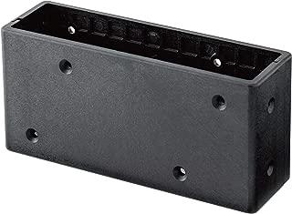 若井産業 ディアウォール専用 2×6 中間ジョイントS ディアウォールS DWJ26BK ブラック 奥行4.6×高さ7×幅14.9cm