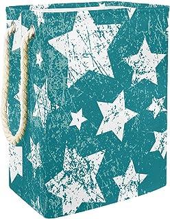 EZIOLY Panier à linge pliable en forme d'étoile avec poignées, supports amovibles, étanche pour vêtements, jouets, organis...