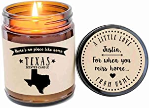 Texas Scented Candle State Candle Gift No Place Like Home Thinking of You Holiday Gift Christmas Gift