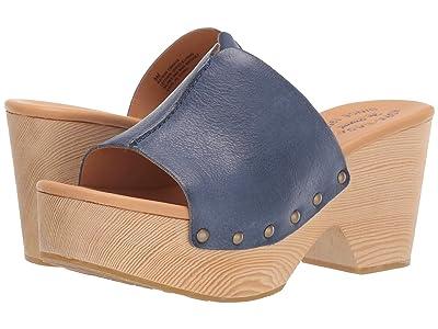 Kork-Ease Waone (Navy Full Grain Leather) Women