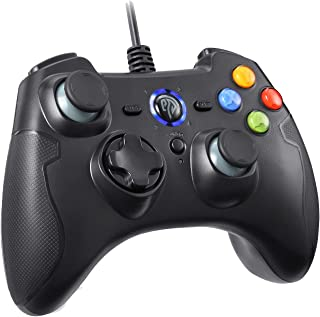 EasySMX ESM-9100 有線ゲームパッド コントローラー 連射・振動機能搭載 Windows/Android/ PS3/ TV Boxに対応可能 (ブラック)