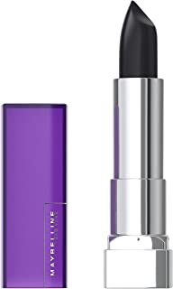 Maybelline New York Color Sensational Black Lipstick Matte Lipstick, Pitch Black, 0.15 oz, Pack of 1 (Packaging May Vary)