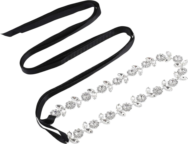 AWAYTR Max New color 81% OFF Bridal Rhinestone Wedding Belts Br Flower Shape - Crystal