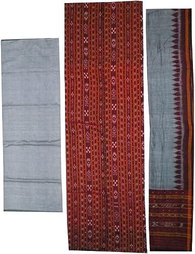 Women s Sambalpuri Cotton Unstitched Dress Material SCDR40067 Multicolour Free Size