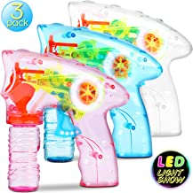 Bubble Machine Bubble Gun Shooter – 3 Pack Bubble Toy Blaster Blower for kids,..
