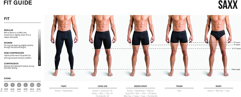 Core Saxx Underwear Mens Boxer Briefs Daytripper Boxer Briefs with Built-in Ballpark Pouch Support Pack of 2
