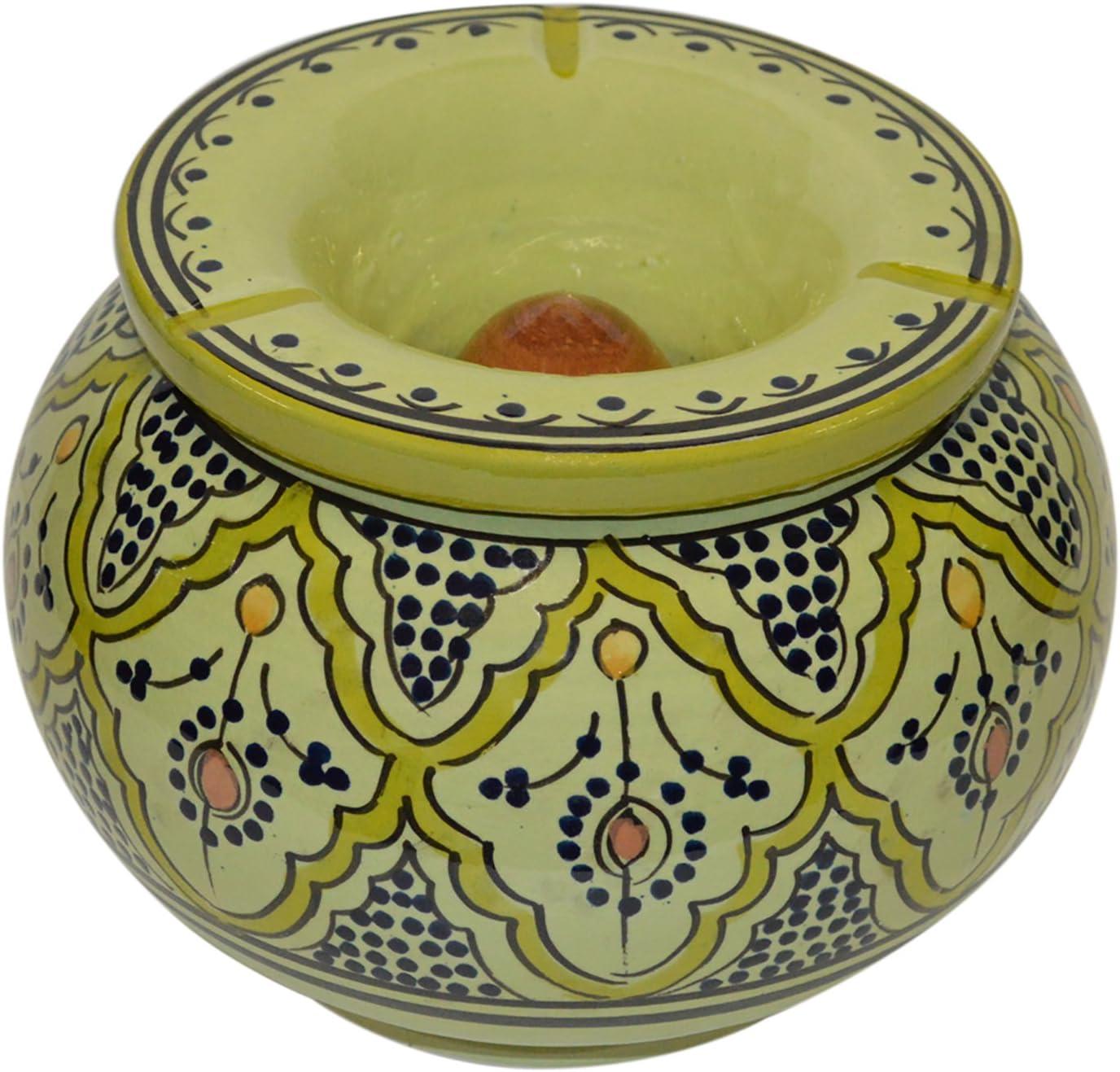 Ceramic Ashtrays excellence Moroccan Handmade Cigar Exquisite Oklahoma City Mall Smokeless Des