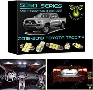 Fyre Flys 9 Piece White LED Interior Lights for 2016-2019 Toyota Tacoma 6000K 5050 Series SMD Package Kit and Install Tool