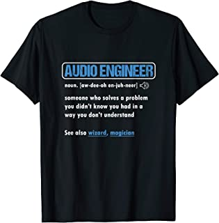 Funny Audio Engineer Definition Sound Technician Engineer T-Shirt