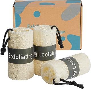Esponja natural Hankk Premium Loofahs, exfoliante para la piel, esponja exfoliante para el cuerpo, esponja de ducha egipci...