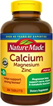 Nature Made Calcium Magnesium Zinc with Vitamin D3, 300 Count for Bone Health† (Packaging May Vary)