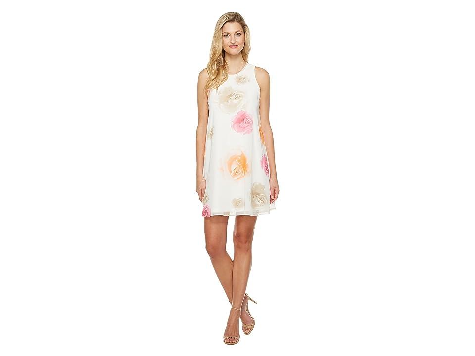 Calvin Klein Floral Trapiz Dress CD7HC39D (Ember Multi) Women