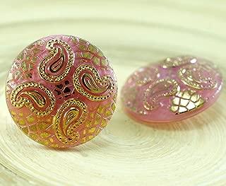 Czech Glass Pressed Diamond-shaped Beads 5x1.5 mm Crystal Vitrail 8gr Dragon Scale Bead