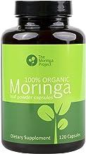 The Moringa Project: Organic Moringa Capsules - 100% Pure, Natural, Organic Moringa Oleifera Leaf Powder Capsules 120 Count