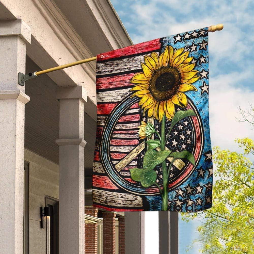 Flags-Hippie Flower Flag MLH897F 100%品質保証 House 迅速な対応で商品をお届け致します 29.5